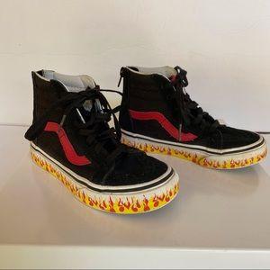 Vans Flame Sidewall SK 8 Hi Zip Sneakers
